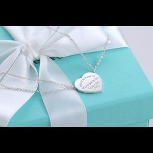 Return to Tiffany Heart Tag Double Chain Necklace